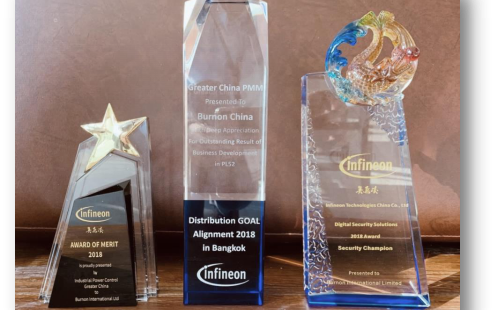 贝能国际喜获英飞凌2018年度三项大奖