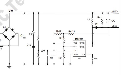 MT7897高精度LED恒流控制器的数据手册免费下载