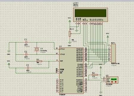 51单片机对LCD1602显示的四线驱动
