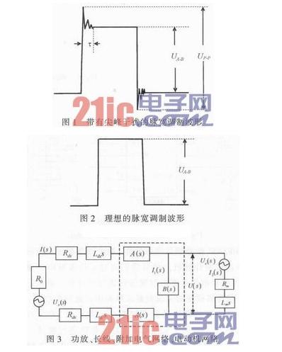 对PWM型功率放大器进行长线传输波形整型及剔除尖峰干扰过程详解