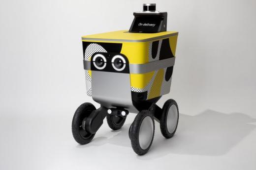 Postmates推出一款造型可爱的送货机器人 能够携带50磅的货物