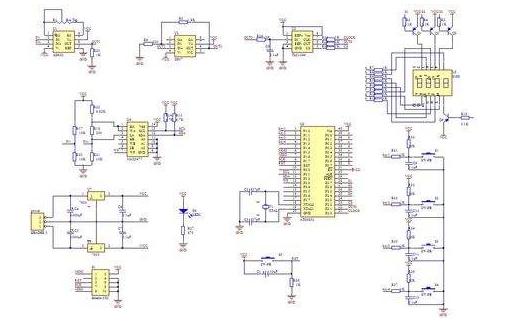 51单片机设计的16按键启停控制8路输出的程序实例资料免费下载