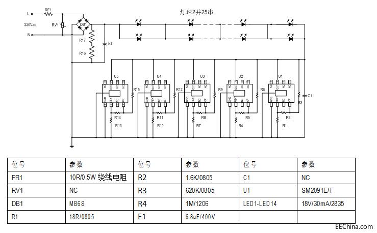 LED高压灯带新的高压线性恒流芯片方案