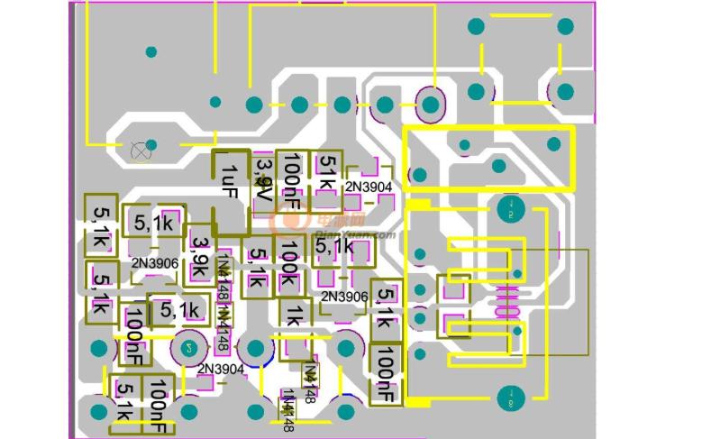 快充2.0充电宝PCB原理图免费下载