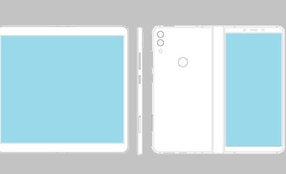 中兴折叠屏专利曝光设计逻辑与三星相似机身外部有一...