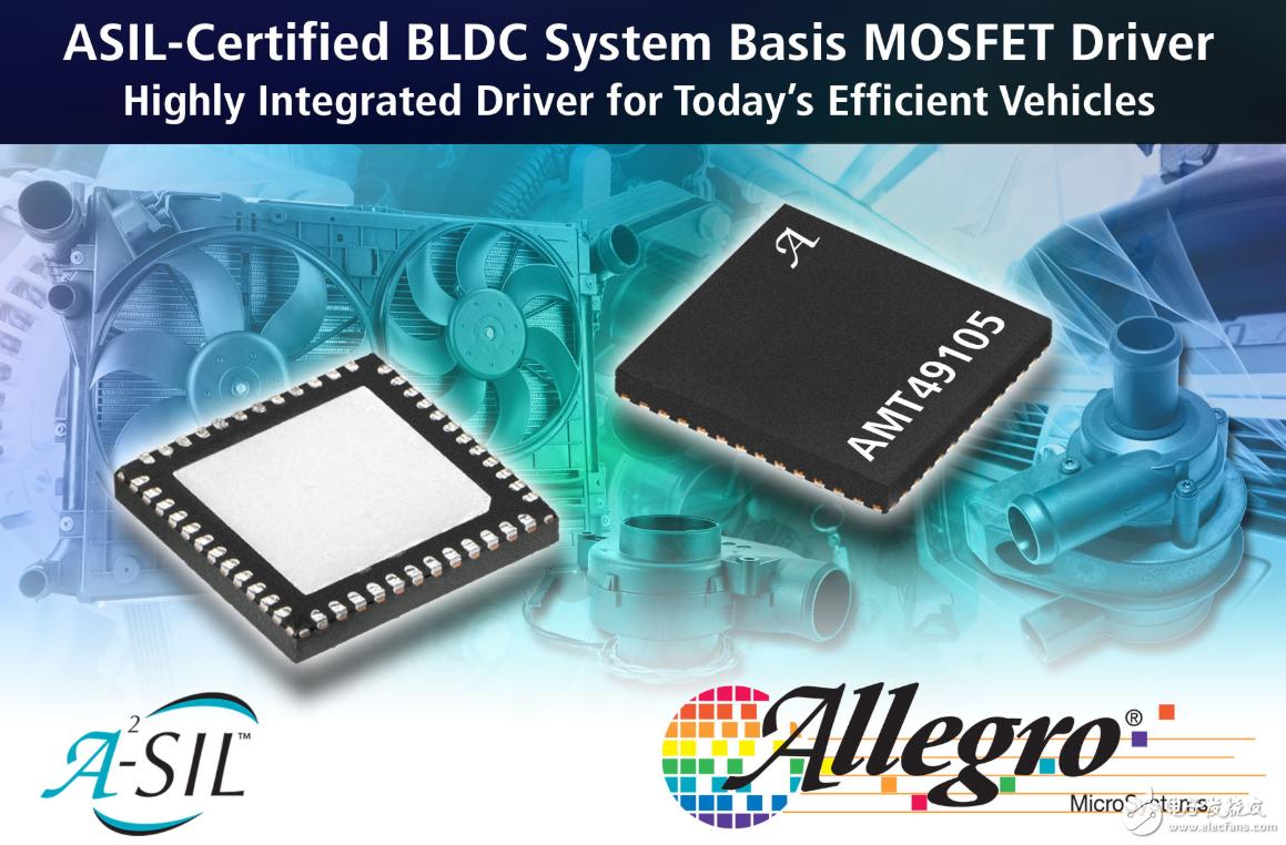 Allegro 推出经ASIL认证的全新MOSFET驱动器AMT49105