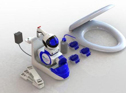 Altan Robotech开发了一款马桶机器人 能自动避开障碍物清理马桶