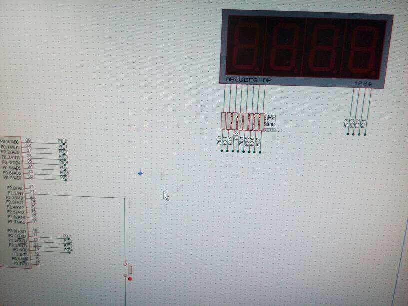 51单片机对计数器的数值显示设计
