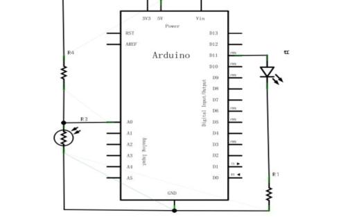 Arduino教程之Arduino的感光灯实验的详细资料说明