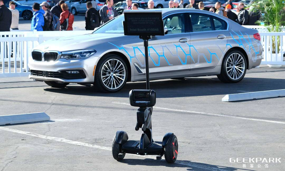 赛格威机器人联合Intel共同发布一款外卖机器人