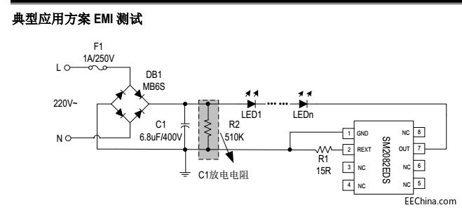 LED燈高壓線性恒流驅動方案SM2082EDS技術支持設計特點