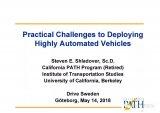 高级自动驾驶汽车部署的实际挑战