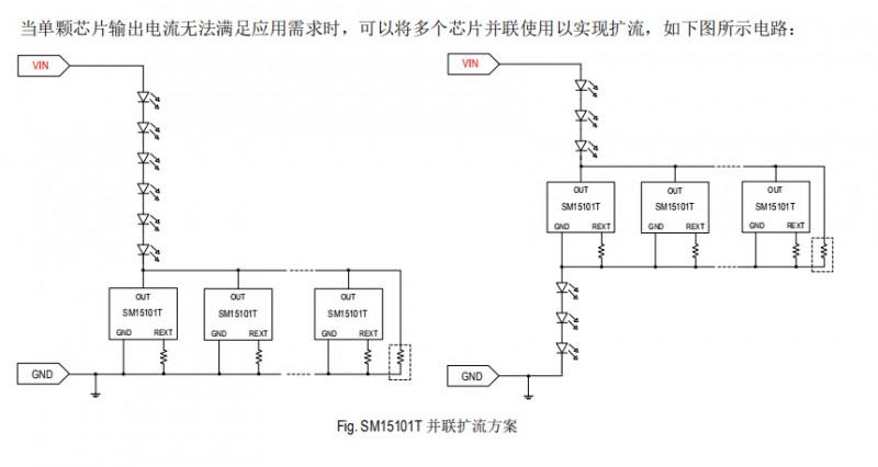 低压灯带恒流驱动ICSM15101T低成本应用方案