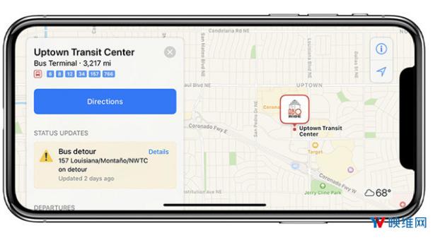 苹果地图借助AR导航功能 可以帮助指引来到陌生地...