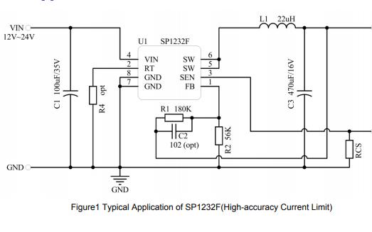 SP1232F同步降压调节器的数据手册免费下载