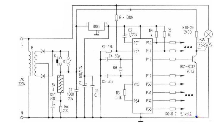 如何使用AT89C2051制作一个彩灯控制系统