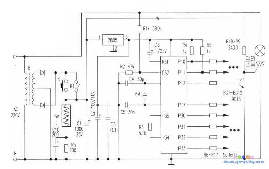 基于C51单片机开发的彩灯霓虹灯控制电路