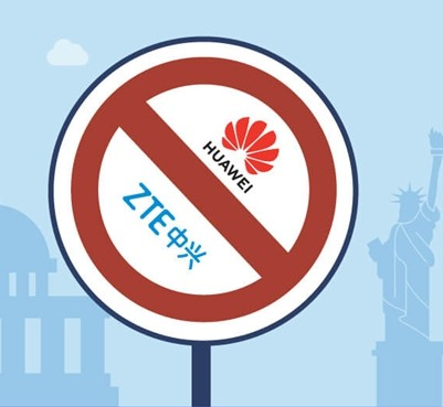 美国将于明年一月份禁止企业使用华为和中兴通讯生产...