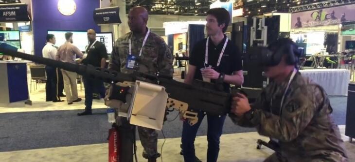 HapTech将电磁后坐力模拟系统用于军事VR训练