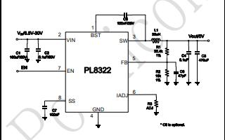 PL8322带恒流恒压功能的同步降压直流转换器的应用手册免费下载