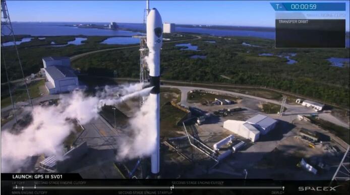 SpaceX首次承担美军方任务,发射GPS卫星!