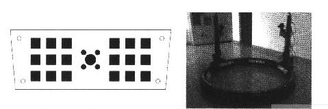 双目主动立体视觉监测平台靶标编码标志点的设计与识别分析