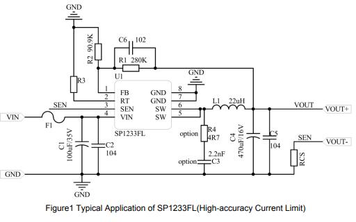 SP1233FL同步降压调节器的数据手册免费下载