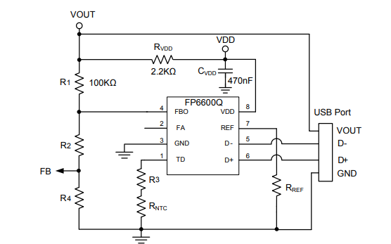 FP6600Q USB接口的快速充电协议控制器数据手册免费下载