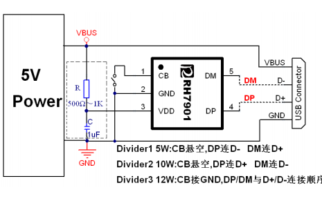 RH7901和RH7902 USB充电协议端口控制器的数据手册免费下载