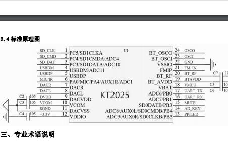 蓝牙BLE MIDI芯片方案和KT2025芯片的数据手册详细介绍