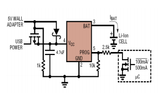 SP4054单片锂离子电池恒流和恒压线形电源管理芯片数据手册免费下载
