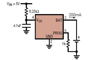 SP4057单片锂离子电池恒流和恒压线形电源管理芯片数据手册免费下载