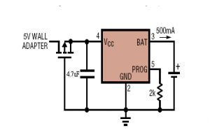 XT4054单片具有热调节功能的微型线性电池管理芯片数据手册免费下载