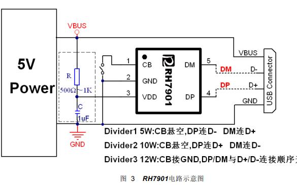 RH7901 USB充电协议端口控制芯片的数据手册