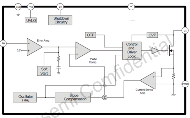 SX1308电流模式控制升压直流调节器的数据手册免费下载