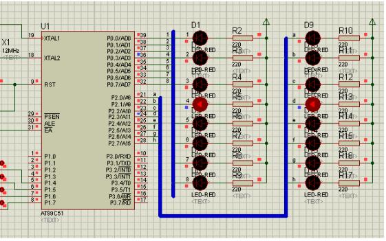 单片机应用教程之K1和K4控制LED移位的程序和电路图资料免费下载