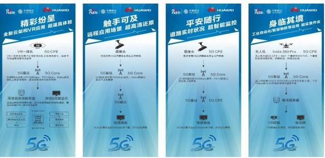 湖南移动携手华为成功搭建了5G概念业务展台