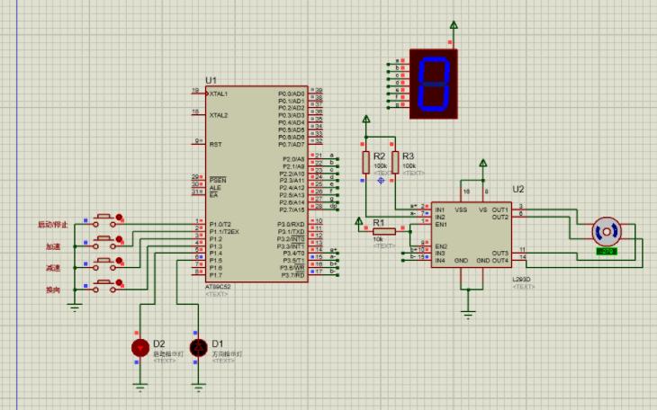 使用51单片机和电机驱动模块控制步进电机转动的程序和仿真等资料说明