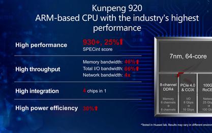刚刚,华为发布面向智能计算的鲲鹏920自研服务器芯片