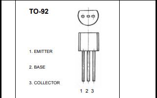 2N5551 TO-92塑料封装晶体管的数据手册免费下载
