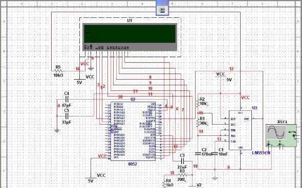 使用Multisim中的MCU 8051制作的单片例程免费下载