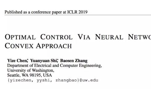 ICLR 2019论文解读:深度学习应用于复杂系统控制