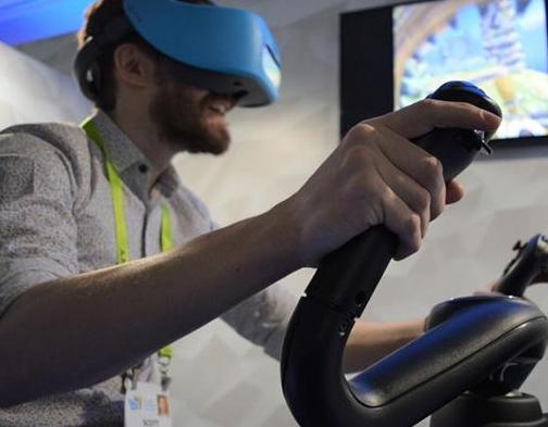 NordicTrack即将推出的VR健身车搭配Vive Focus的Demo体验