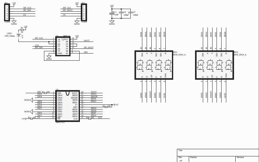 MAX7221数码管的PCB和原理图资料免费下载