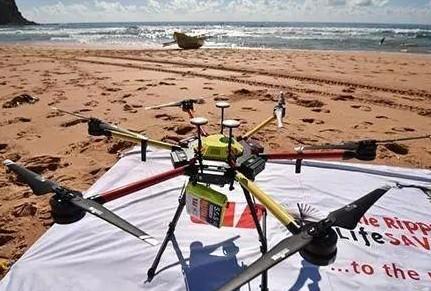 澳大利亚利用无人机进行海岸线巡逻