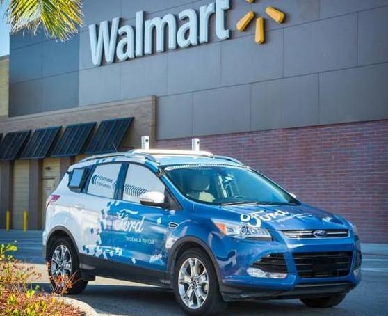 福特与沃尔玛合作 推出自动驾驶汽车送货到家的服务