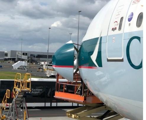 国泰航空飞往香港的CX198航班客机遭遇鸟击被迫返航