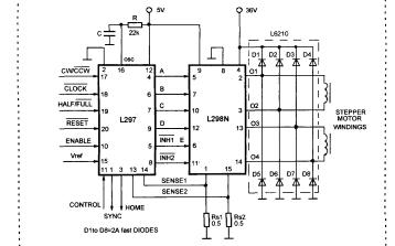 如何使用L297和L298步进电机的精确单片机控制程序_孟智远