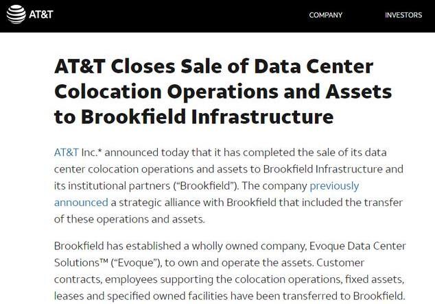 美国运营商为何会将如此挣钱的数据中心业务卖掉