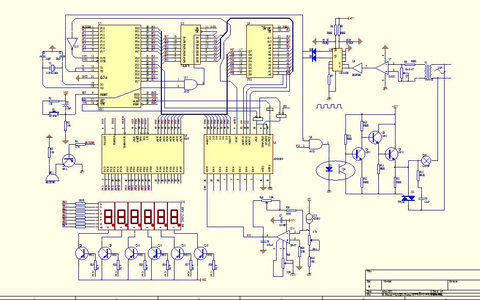温度检测及控制系统的电路原理框图免费下载